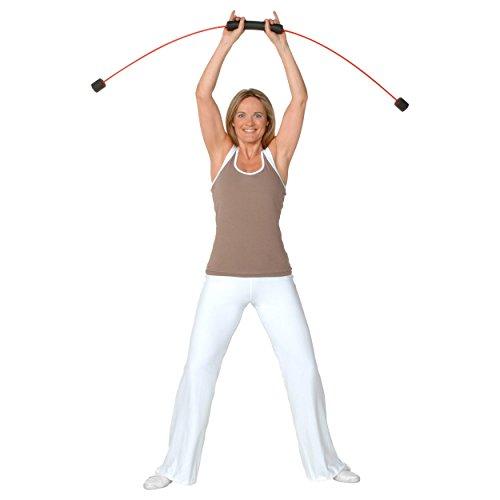 FLEXI-BAR® Standard, Rot,  hochbelastbarer Schwingstab von Flexi-Sports mit...