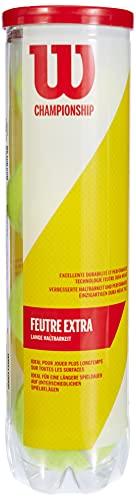 Wilson Tennisbälle, Triniti, 4 Bälle, Hülle 100% recyclebar, WRT125200