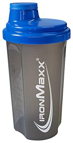 IronMaxx Eiweiß Shaker mit Drehverschluss, Blau Grau, 700 ml (1er Pack)