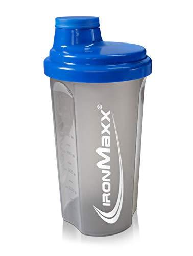 IronMaxx Eiweiß Shaker mit Drehverschluss, Sieb und Mess-Skala – 700ml Fitness...