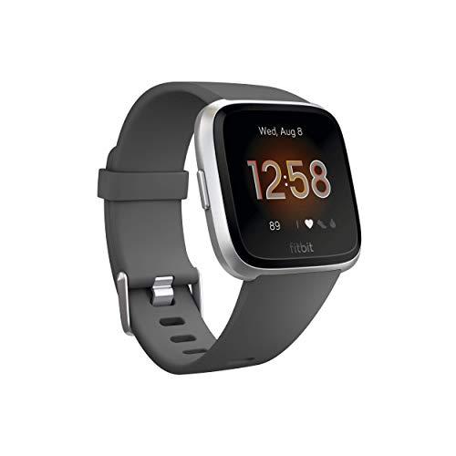 Fitbit Versa Lite Smartwatch, Anthrazit/Silber, Aluminium, Einheitsgröße (S & L...