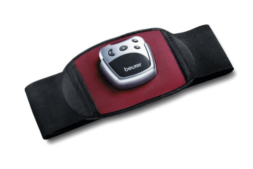 Beurer EM 30 Bauchmuskelgürtel, EMS Bauch-Training mit 2 Kontaktelektroden, 5 Trainingsprogrammen