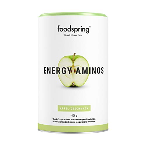 foodspring, Energy Aminos, Apfel, 400g, Pre-Workout-Booster mit Vitamin C, B3, B12,...
