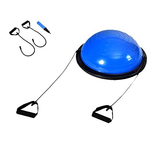 COSTWAY φ 60cm Balance Ball mit Expander & Pumpe, halber Gymnastikball bis 200kg...