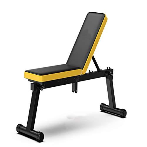 GLKTE HYS Multifunktions-Flachbank Hocker Faltbare Home Fitness Chair Männer und...
