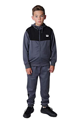 Huxlay Bros Trainingsanzug Junior Jungen Sport Poly Hoodie & Hose Gr. 1-2 Jahre,...