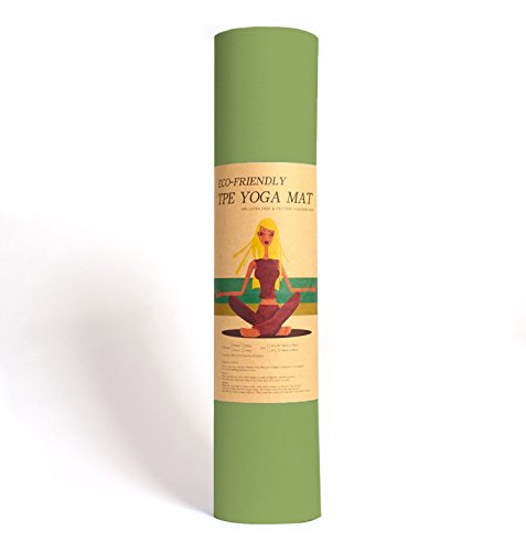 Yoga-Matte Pro Grün von Epic Brands aus umweltfreundlichem TPE-Schaum. Sehr...