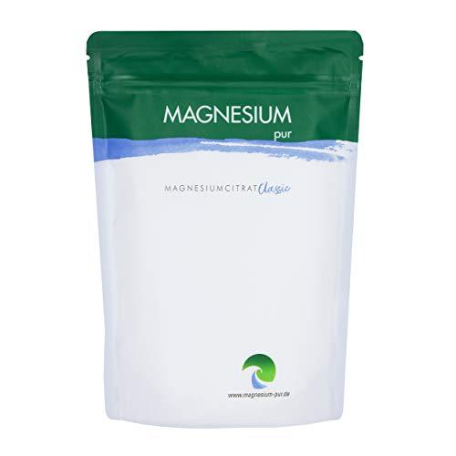 Magnesium-Pur Pulver 500g Nachfüllbeutel pures Magnesiumcitrat Pulver, hoch...