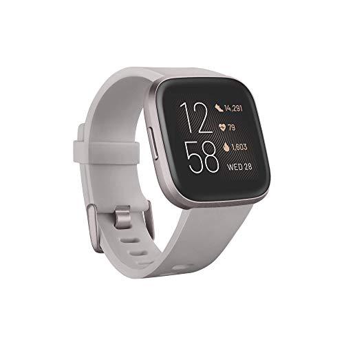 Fitbit Versa 2 – Gesundheits- und Fitness-Smartwatch mit Sprachsteuerung,...