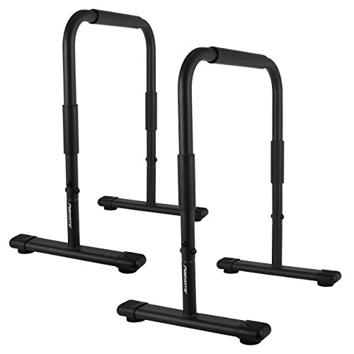 MSPORTS Dip Barren Fitness Parallettes Premium (Paar) 80x65 cm | Push Up Stand Bar I...