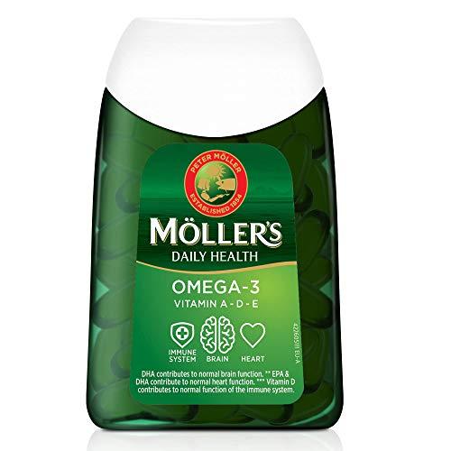 Moller's ® | Omega 3 Kapseln | Fischöl | Skandinavische Omega-3...