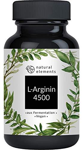 L-Arginin - 365 vegane Kapseln - 4500mg pflanzliches L-Arginin HCL pro Tagesdosis (=...