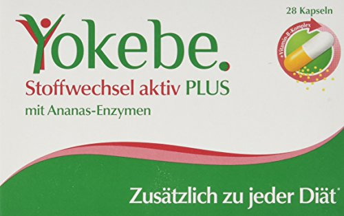 Yokebe Plus Stoffwechsel Aktiv Kapseln, unterstützen den Stoffwechsel, hochdosierter...