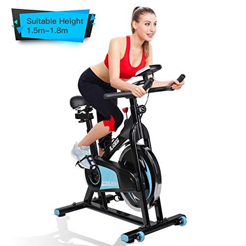 alvorog Indoor Fitness Fahrrad Heimtrainer Cycle Indoorcycling Bike mit LCD Monitor,...