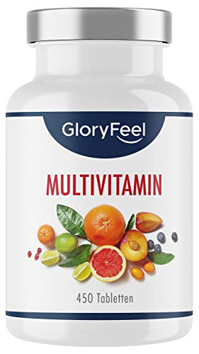 Multivitamin Hochdosiert - 450 Tabletten (15 Monate) - Vergleichssieger 2020* - Alle...