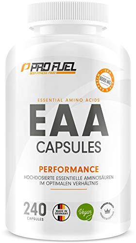EAA Kapseln hochdosiert 240 Giga Caps mit je 1000 mg EAA (vegan) - Optimiertes...