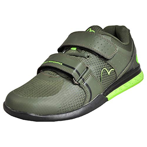 More Mile Super Lift 3 Crossfit/Weightlifting Shoes - Green-8.5