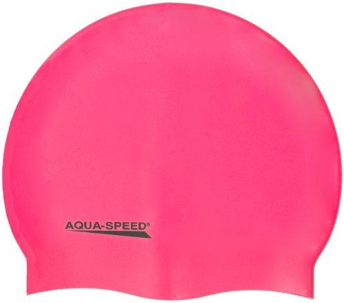 Aqua-Speed - Bademütze/Schwimmkappe - Super-Stretch Mega 100-03 (rosa)