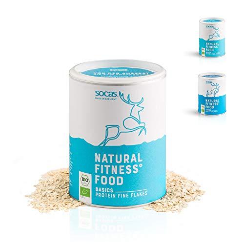 SOCAS Bio Sojaflocken – 300g Basic Protein Flakes / 100% Bio Soja Made in Germany /...