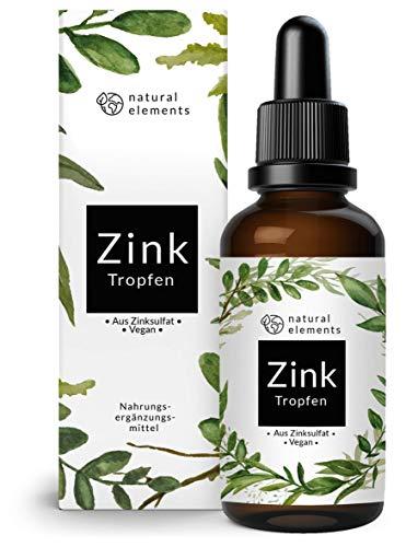 Zink Tropfen - 100ml (3400 Tropfen) - Premium: Ionisches Zink (Zink-Sulfat) - Ohne...