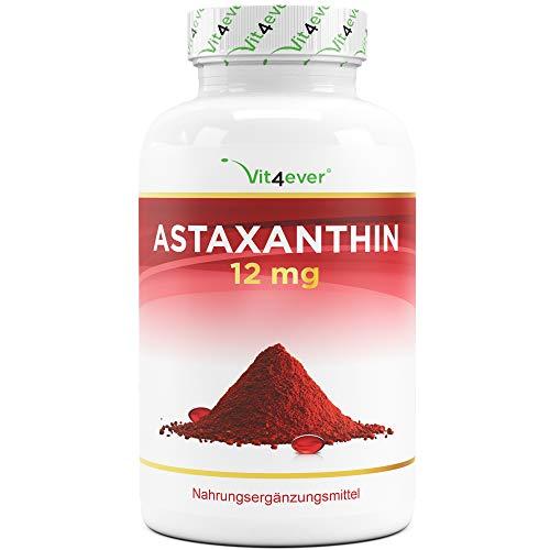 Astaxanthin 12 mg Depot - 150 Softgel Kapseln (10 Monatsvorrat) - Aus reiner...