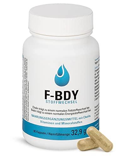 Vihado F-BDY Stoffwechsel – Kapseln für einen normalen Stoffwechsel mit Vitaminen...