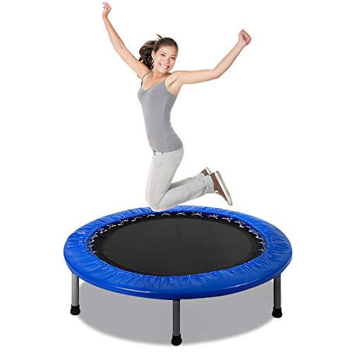 COSTWAY Mini Trampolin φ97cm, Fitness Trampolin faltbar, Kindertrampolin bis 100kg...