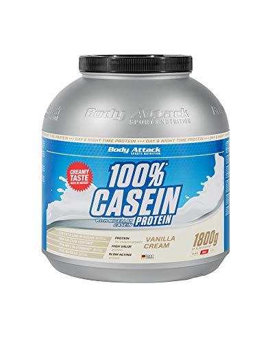 Body Attack 100% Casein Protein, reich an essentiellen Aminosäuren - Muskelaufbau...