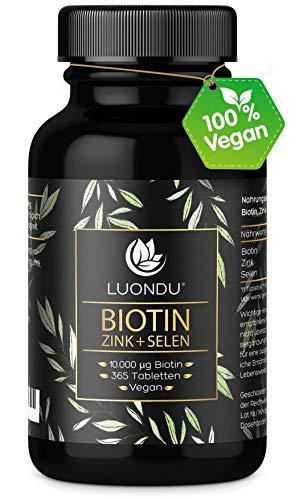 Luondu Biotin hochdosiert 10.000 mcg pro Tablette (365 vegane Tabletten für 1 Jahr)...