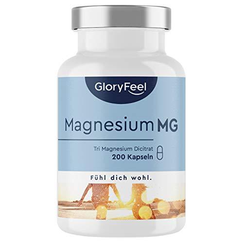 Premium Magnesium-Citrat 2.400 mg - Vergleichssieger 2020* - 200 Kapseln - 2400mg...