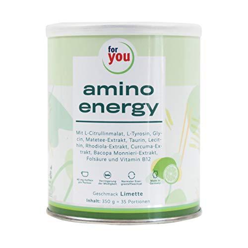 for you amino energy I Aminosäuren Pulver mit Citrullin Malat Taurin Koffein aus...