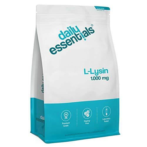 L-Lysin- 500 Tabletten - 1000mg je Tablette - Laborgeprüft, ohne Magnesiumstearat,...