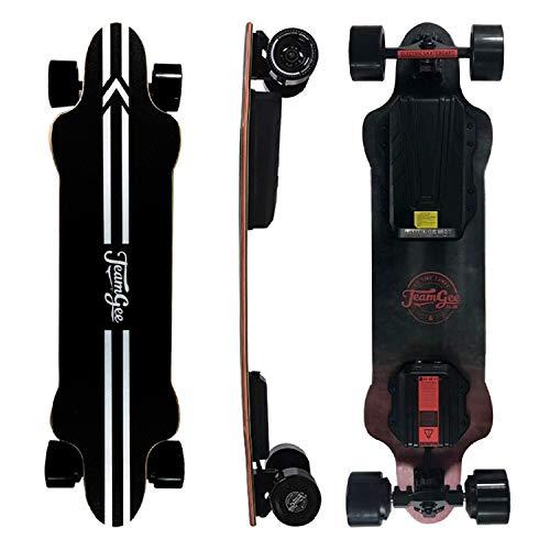 Teamgee H20 Elektro-Skateboard mit kabelloser Fernbedienung, Longboard-Skateboards...