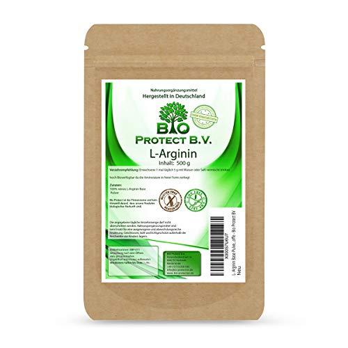 L- Arginin Base Pulver 500 Gramm - 100% ohne Zusatzstoffe - reinstes Arginin Pulver...