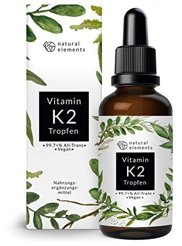 Vitamin K2 MK-7 200µg - 1700 Tropfen (50ml) - All-Trans Gehalt 99,7+% (K2VITAL® von...