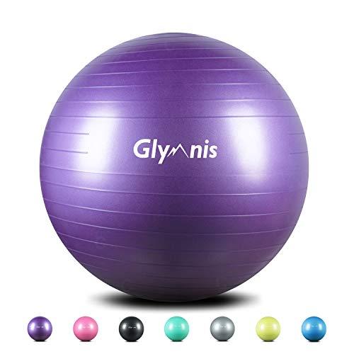 Glymnis Gymnastikball Sitzball 55cm 65cm 75cm Dicker Pilates Ball inkl. Luftpumpe...