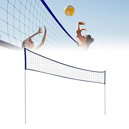Volleyballnetz mit Ständer für den Garten, tragbares klappbares...