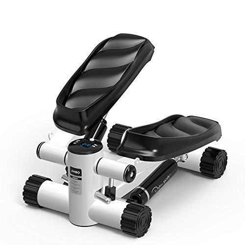 HJKHNK Mini-Stepper mit Zugbändern für Zuhause Side-Stepper LCD Trainingscomputer...