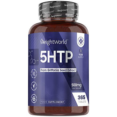 5HTP Tabletten - 365 Tabletten - 500mg Griffonia Simplicifolia Extrakt 5-HTP -...