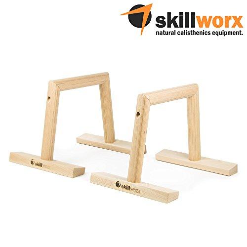 skillworx Parallettes: Minibarren aus FSC-Holz für Calisthenics und Turntraining (30...