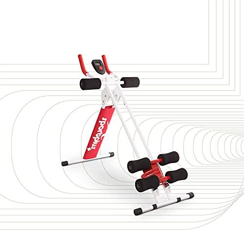 SportPlus Bauchtrainer, klappbarer Bauchmuskeltrainer, Verschiedene...