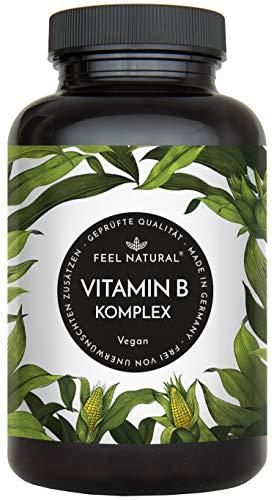 Vitamin B Komplex Kapseln - Mit 500 µg Vitamin B12 pro Tagesdosis - Besonders...