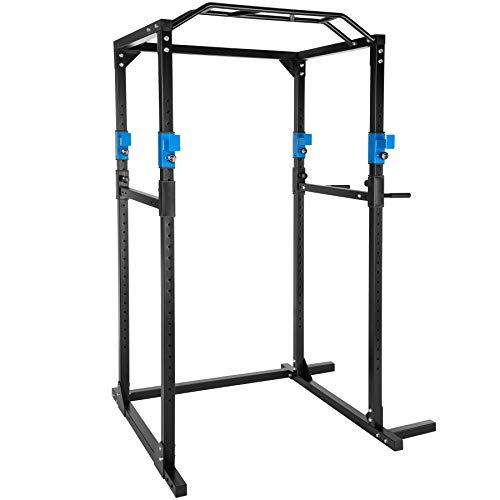 TecTake Kraftstation Fitnessstation Power Rack Power Cage | Klimmzug-Doppelstange |...