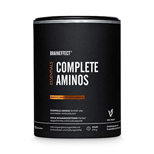 BRAINEFFECT COMPLETE AMINOS I Alle Essentiellen Aminosäuren (EAA) Pulver Komplex und...