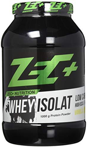 ZEC+ Whey Isolat - Vanille 1000 g - Fettarmes Eiweißpulver aus reinem Molkenprotein