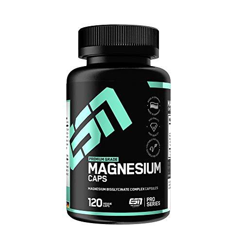 ESN Magnesium Caps – 120 Kapseln – Top: Magnesium-Bisglycinat (Magnesium-Chelat)...
