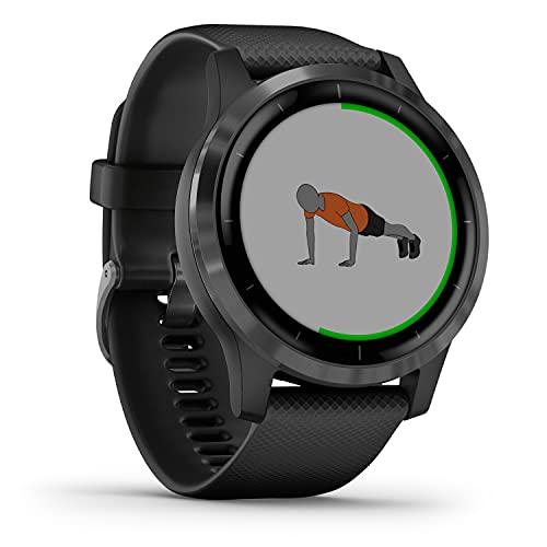Garmin vívoactive 4 – wasserdichte GPS-Fitness-Smartwatch mit Trainingsplänen &...