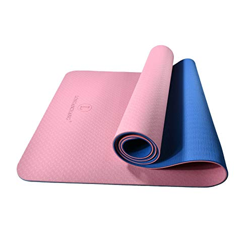 L LONGANCHANG Yogamatte, TPE Yoga Matte Gymnastikmatte Sportmatte Fitnessmatte...