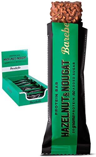 Barebells Proteinriegel Hazelnut & Nougat 55g x 12 Proteinreich Kohlenhydratarm Kaum...