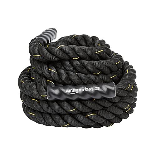 Amazon Basics - Trainingsseil Battle Rope, 12m x 5cm